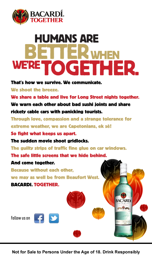 Bacardi Together Manifesto Campaign: South Africa